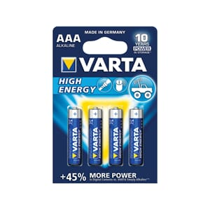 Varta Alkaline High Energy batteri, AAA