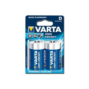 Varta Alkaline High Energy batteri, D