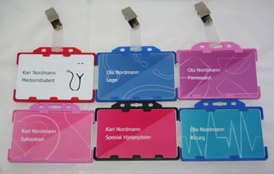 17a4afad Navneskilt plastkort til helsepersonell og studenter - Gymo AS